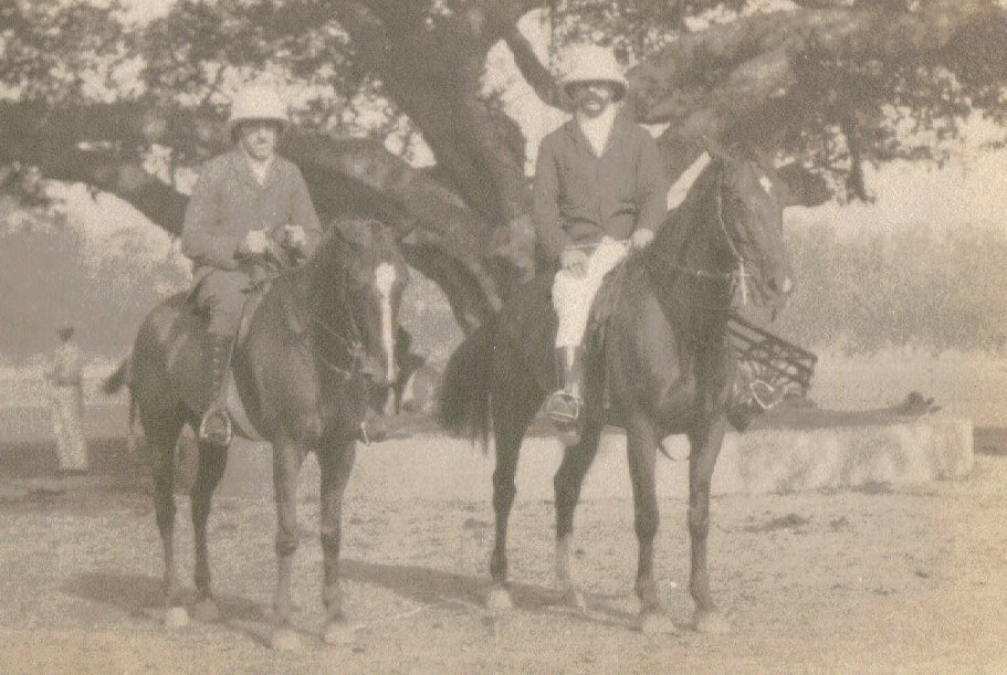 Two Gentlemen on Ponies, Calcutta c.1903