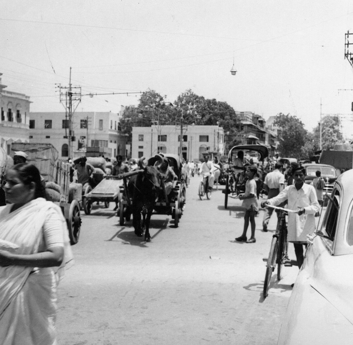 Streets of Old Delhi - 1954