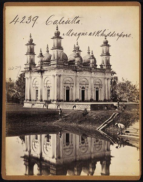 Mosque at Khidderpore View one Calcutta ( Kolkata) - Mid 19th Century