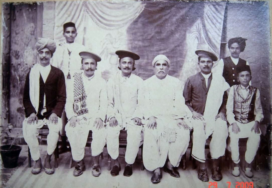 Indian Sind People Vintage Group Photo