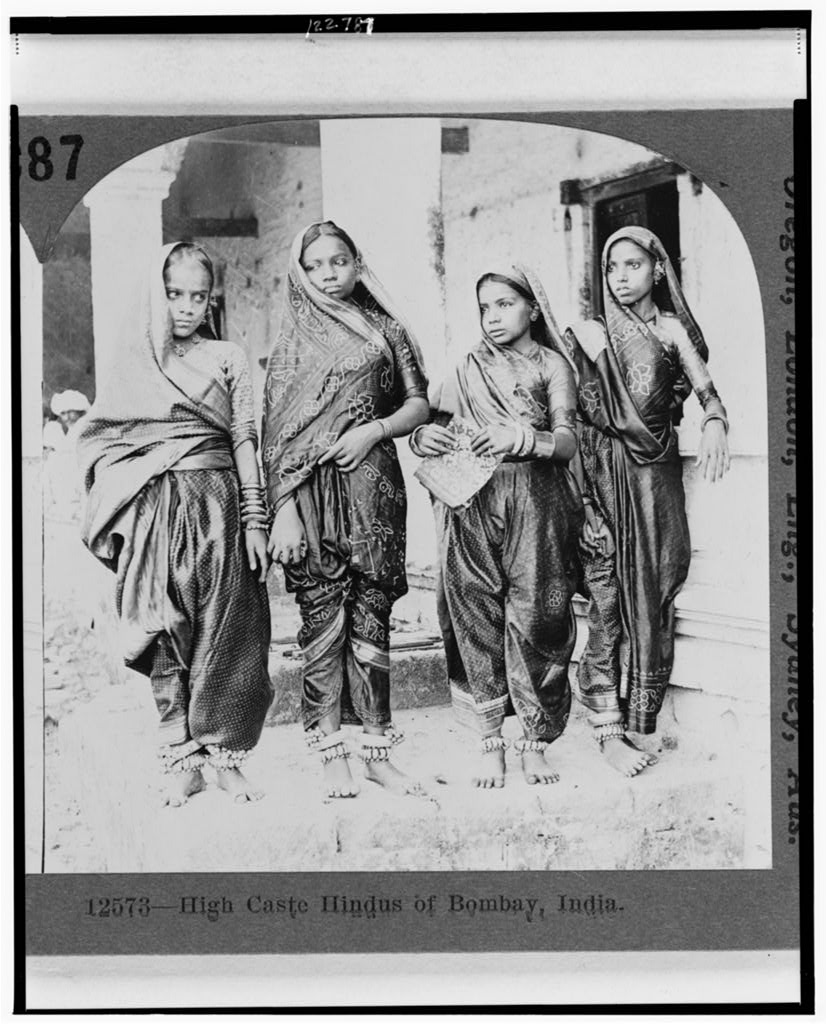High Caste Hindu Women - Bombay (Mumbai) India 1922