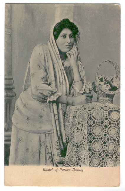 Postcard of Parsee Beauty - 1910