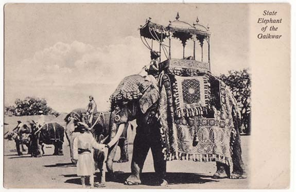 State Elephant Of Gaikwar - Post Card India