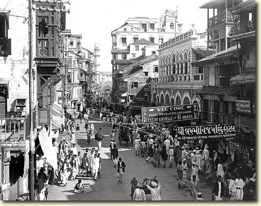 Bombay (Mumbai), India – Street of the Pearl Dealers - 1912