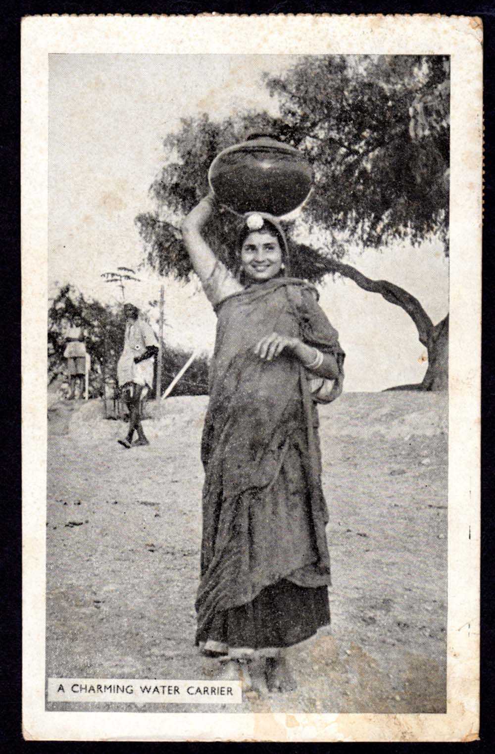 A Charming Water Carrier - India 1949