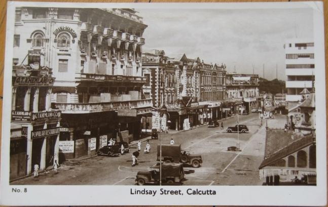Lindsay Street  - Calcutta (Kolkata) India - 1952