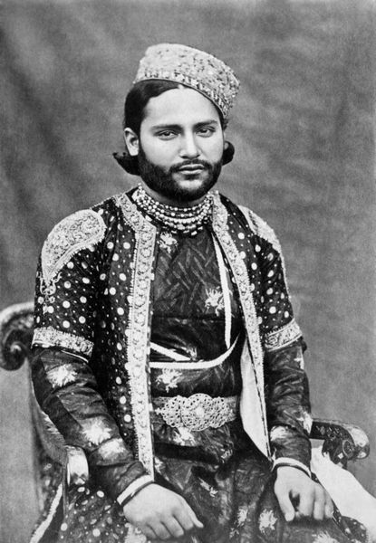 Sultan Dulah, the prince consort of Bhopal -  photo captured in November, 1901