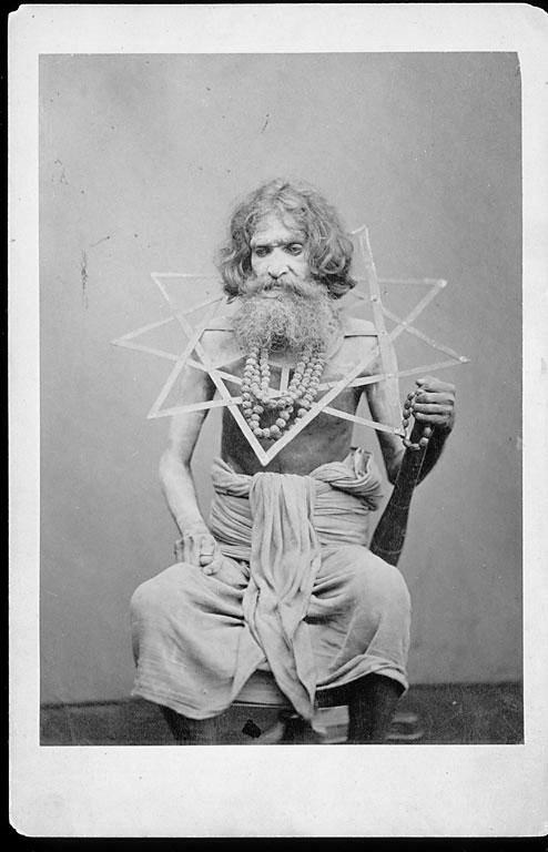 Portrait of Man, Sadhu (Mendicant), Wearing Permanent Iron Collar - Nicholas Bros