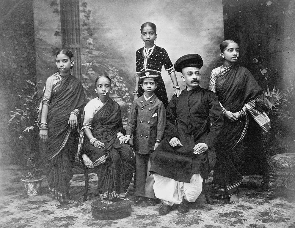 Portrait of Group of Brahmans, of Parbu Caste - Lala Deen Dayal