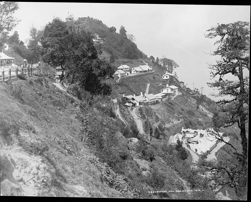 View of Observatory Hill in Darjeeling Showing Habitations and Other Buildings - Bourne and Shepherd