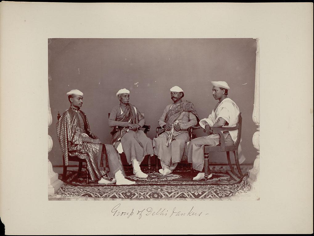 Portrait of Four Delhi Bankers - Charles Shepherd 1862