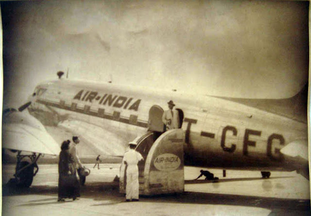 Vintage Photograph of Air India Aeroplane