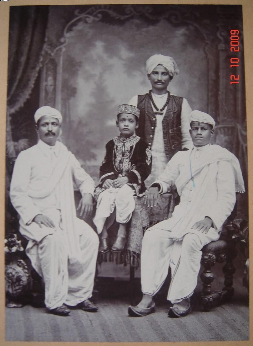 Vintage Studio Photograph of Marwari Traders - Bombay (Mumbai)