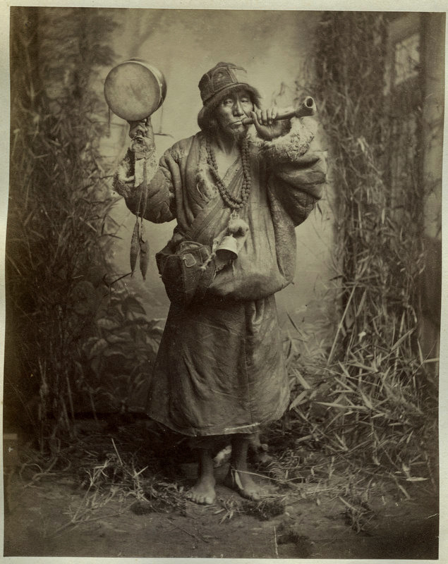 Photograph of a Lama or Buddhist Monk - 1880's