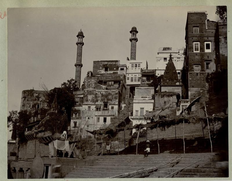 Benares (Varanasi) Ghat - Steps to the River Ganges - 1890's