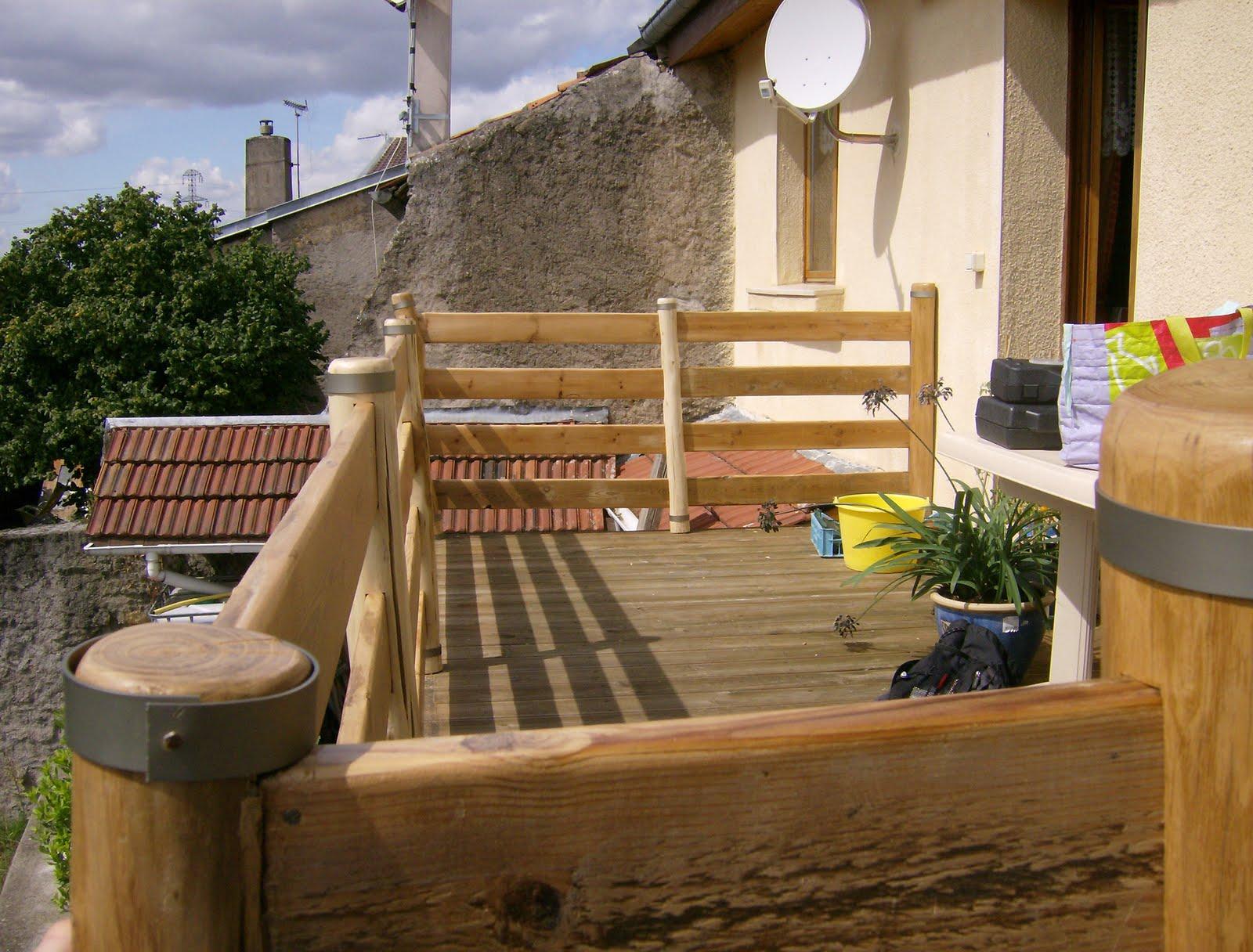 rambarde de terrasse. Black Bedroom Furniture Sets. Home Design Ideas