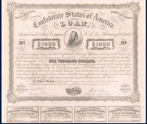 Collectible Old Stocks and Bonds: Collectible Confederate Bonds
