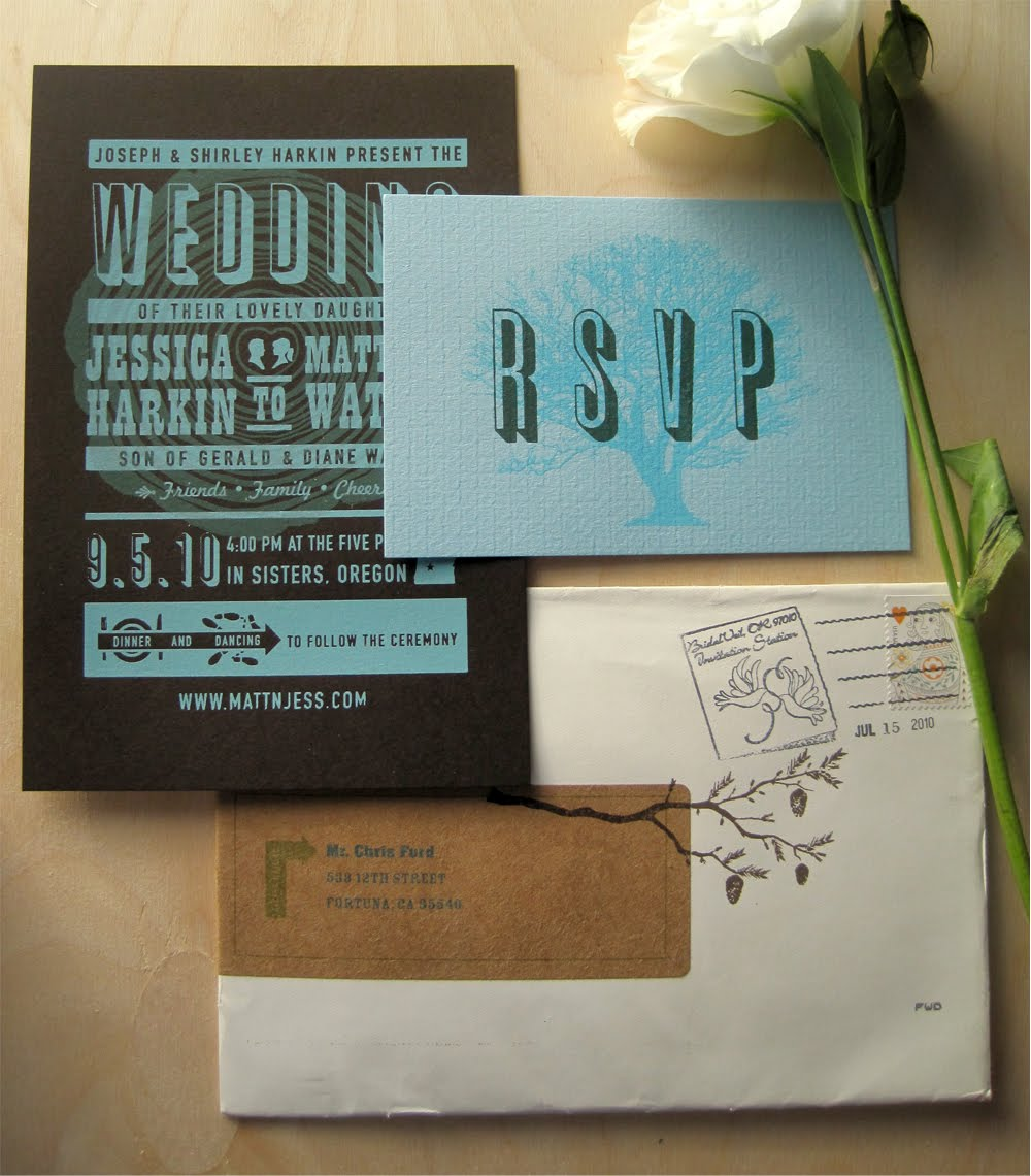 This Invitation Was For An Outdoor Wedding In Sisters Or Which Is A Beautiful Location With Gorgeous Pine Treeountains All Around