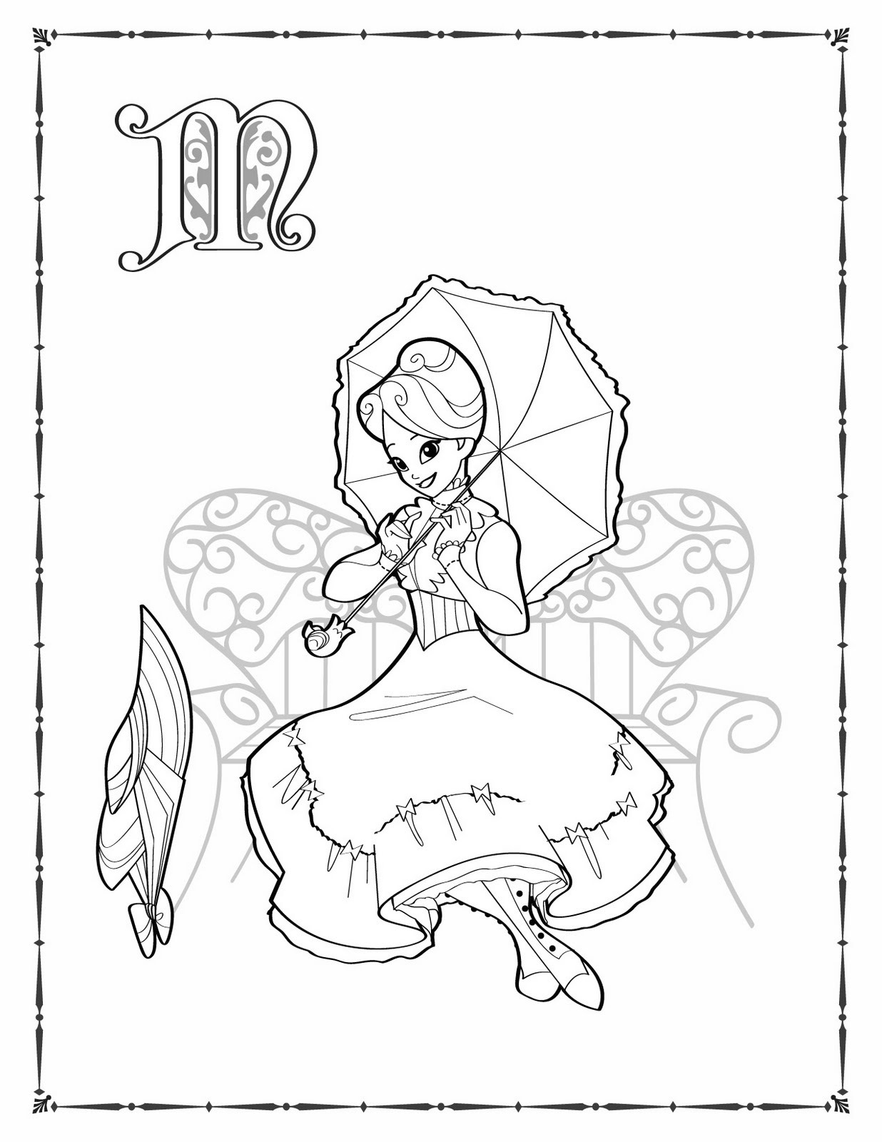 Mary Poppins Coloring Pages To Print Coloring Pages