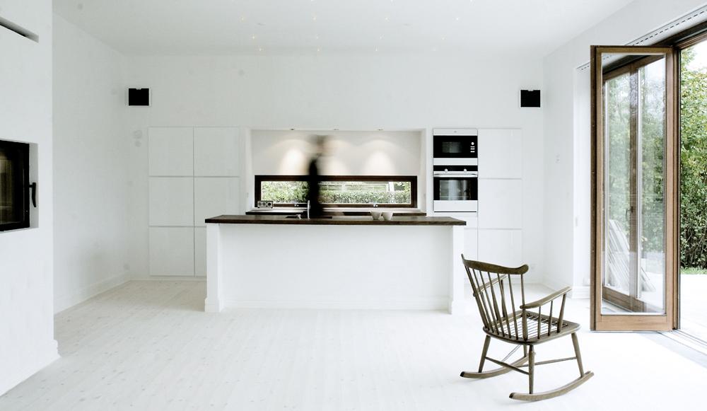 betoni keittiön välitilassa