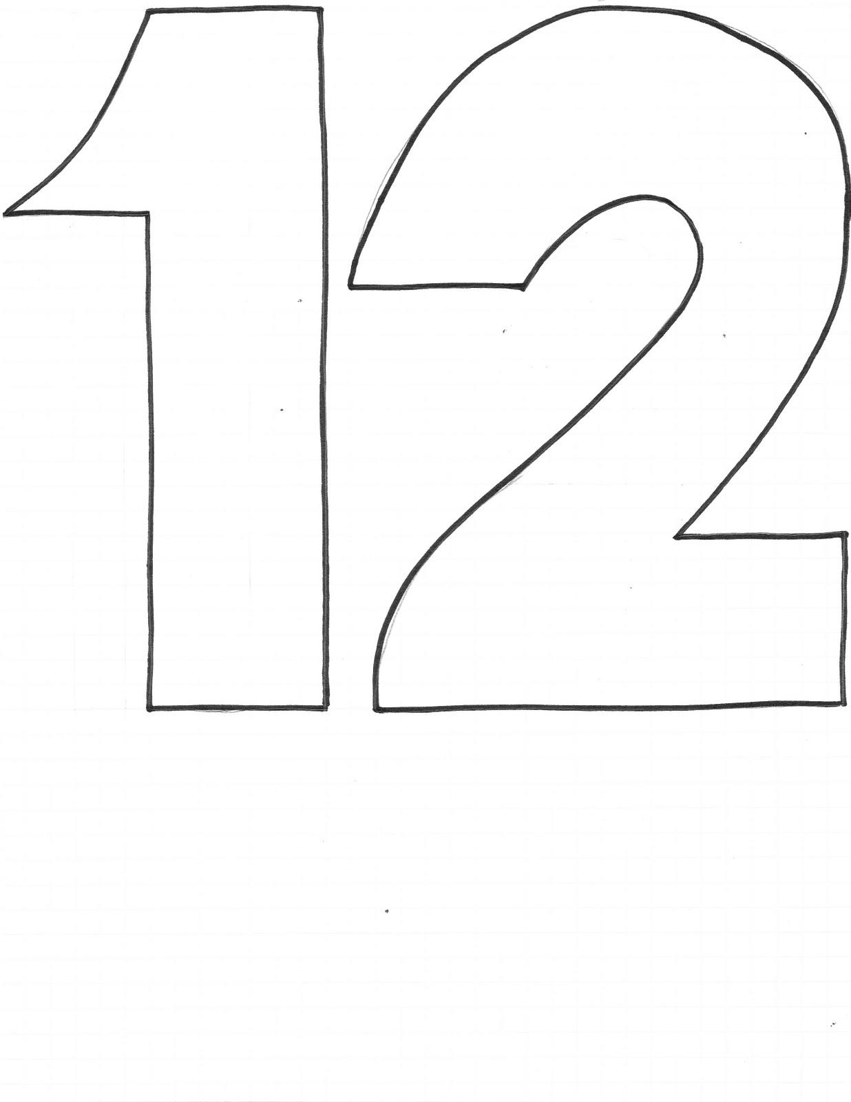 CREATE STUDIO: Beanbag Numbers Templates