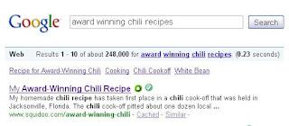 award winning chili recipe google search