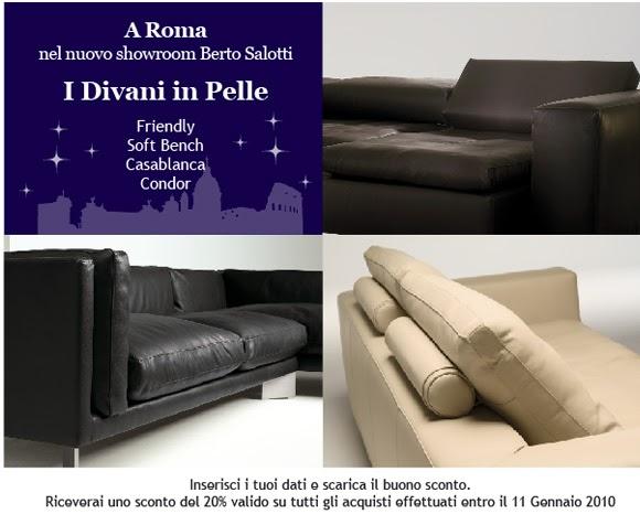 Berto Salotti Blog: Promozione online: 20% di sconto presso ...
