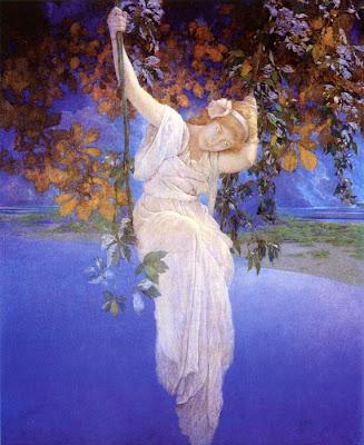 Maxfield parrish swinging girl