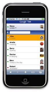 Google Talk iPhone