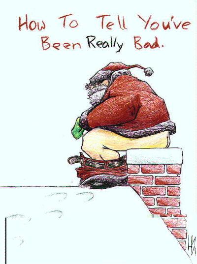 čestitke za božić smiješne Božićne slike i e card čestitke: Djed Mraz sere u dimnjaku  čestitke za božić smiješne