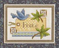 схема вышивки крестом голубь мира