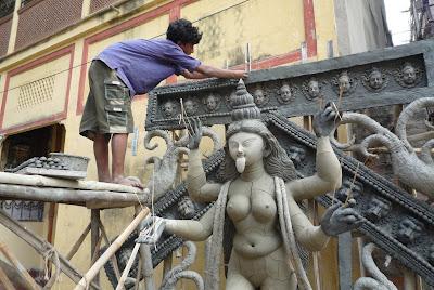 Grande fête de Kalhi : préparatifs à Calcutta 4