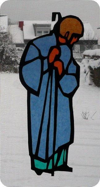 Infopost Kreativ Mit Stempel Weihnachtskrippe Furs Fenster