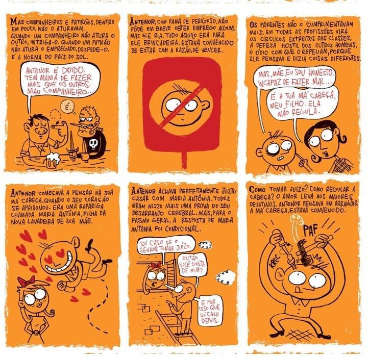 88c48916e O homem da cabeça de papelão, do escritor João do Rio, numa adaptação em  quadrinhos muito boa... Qualquer coincidência, seria mera semelhança?