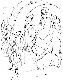 palm sunday coloring pages