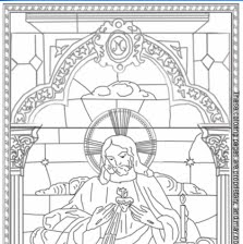 sacred heart coloring pages - photo#10