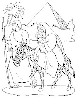flight into egypt coloring pages - photo#16