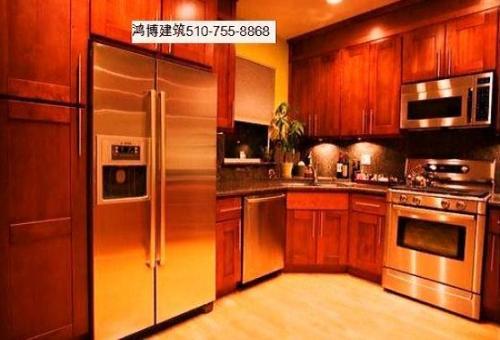 Hong Bo Hardware Supply Cherry Shaker Kitchen Cabinets