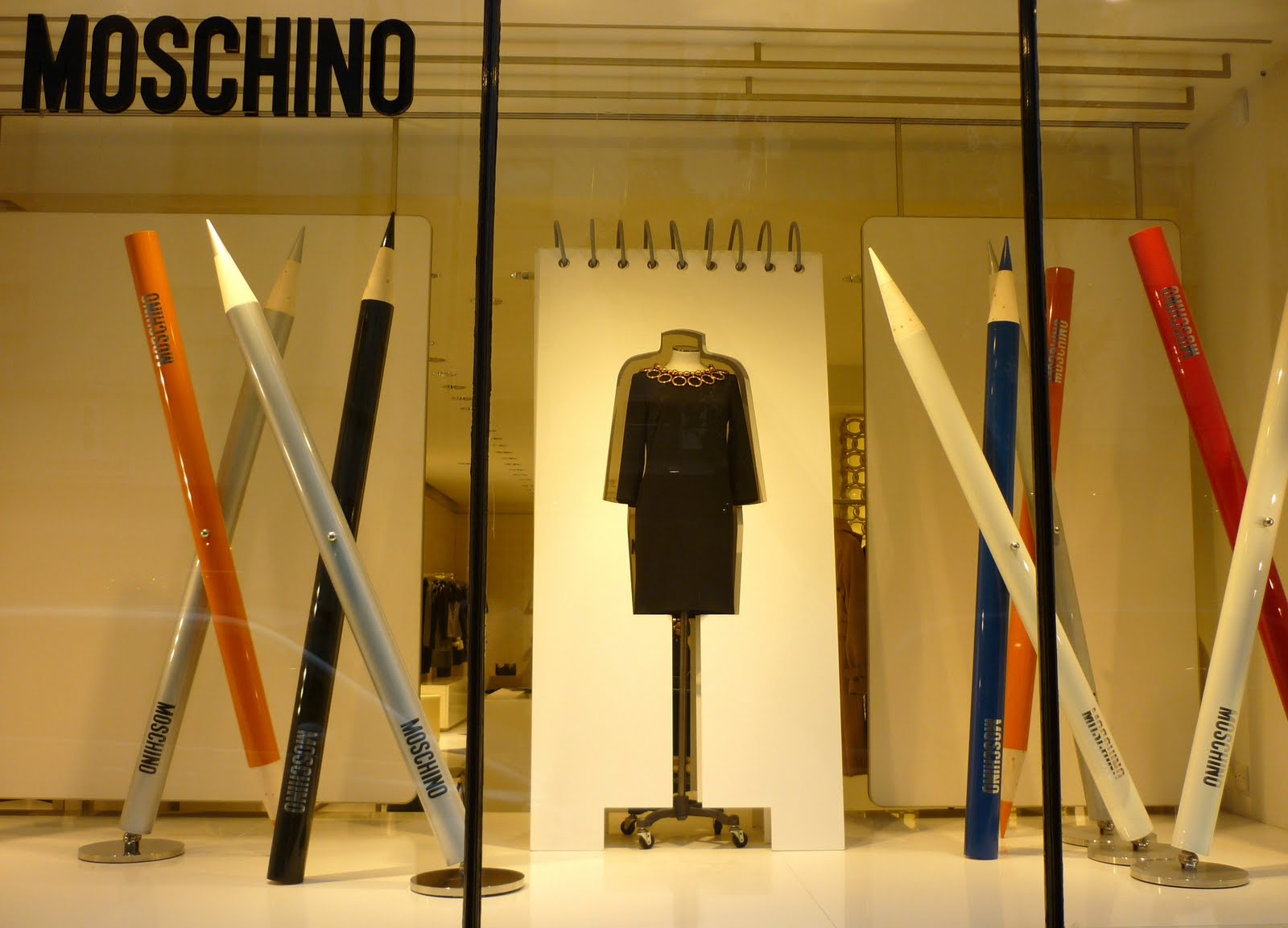 Made In A Window Back To The Drawing Board For Moschino