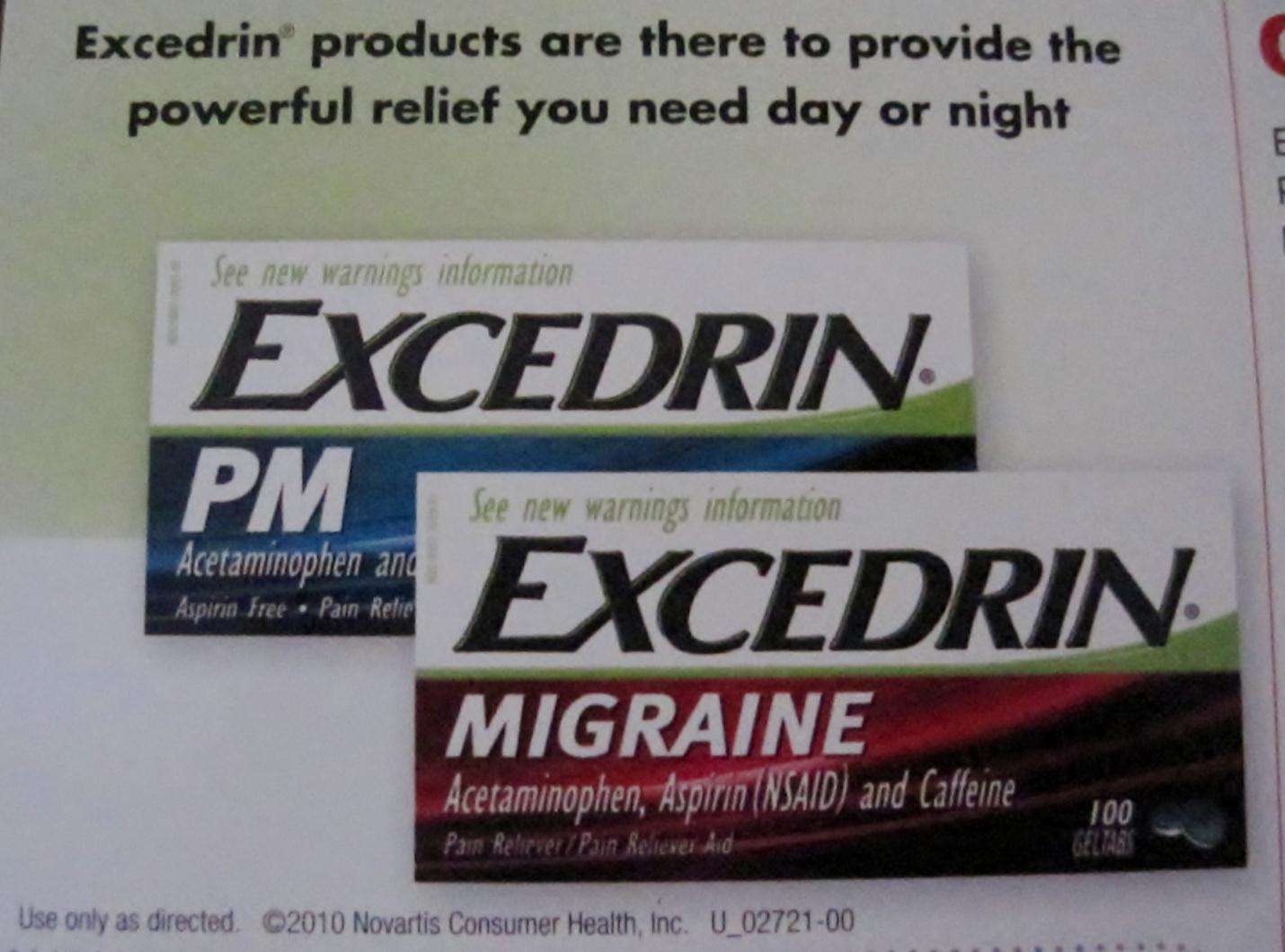 Simply Cvs Cvs Snail Mail Alert Excedrin Pm Migraine 3 Cvs Coupon
