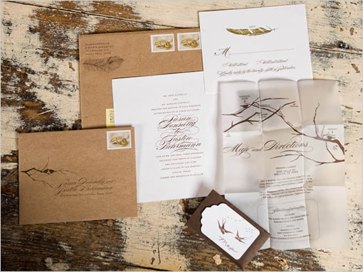 Love Birds Wedding Invitations: Partridge Hill Wedding: Wedding Invitations