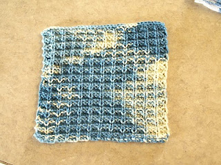 Knitted dish cloth
