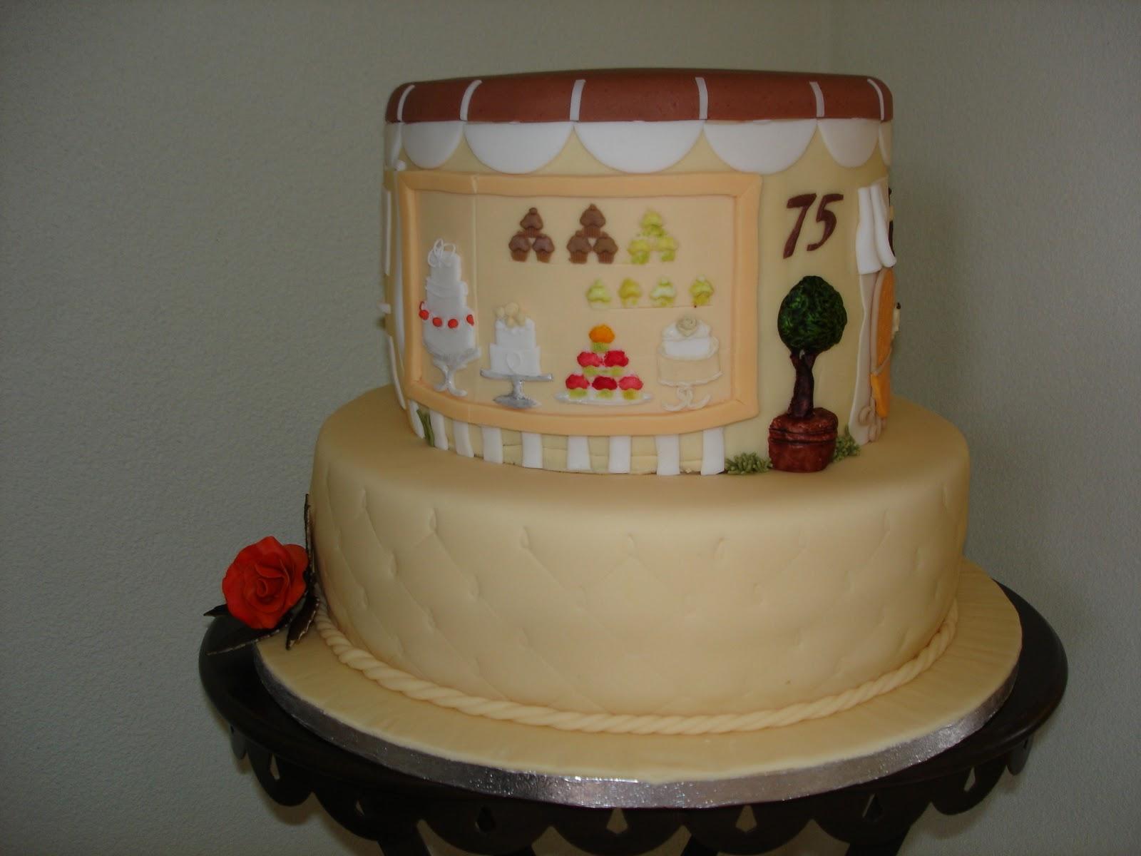 Torte Zum 75 Geburtstag Meiner Mutter Brigittes Tortendesign