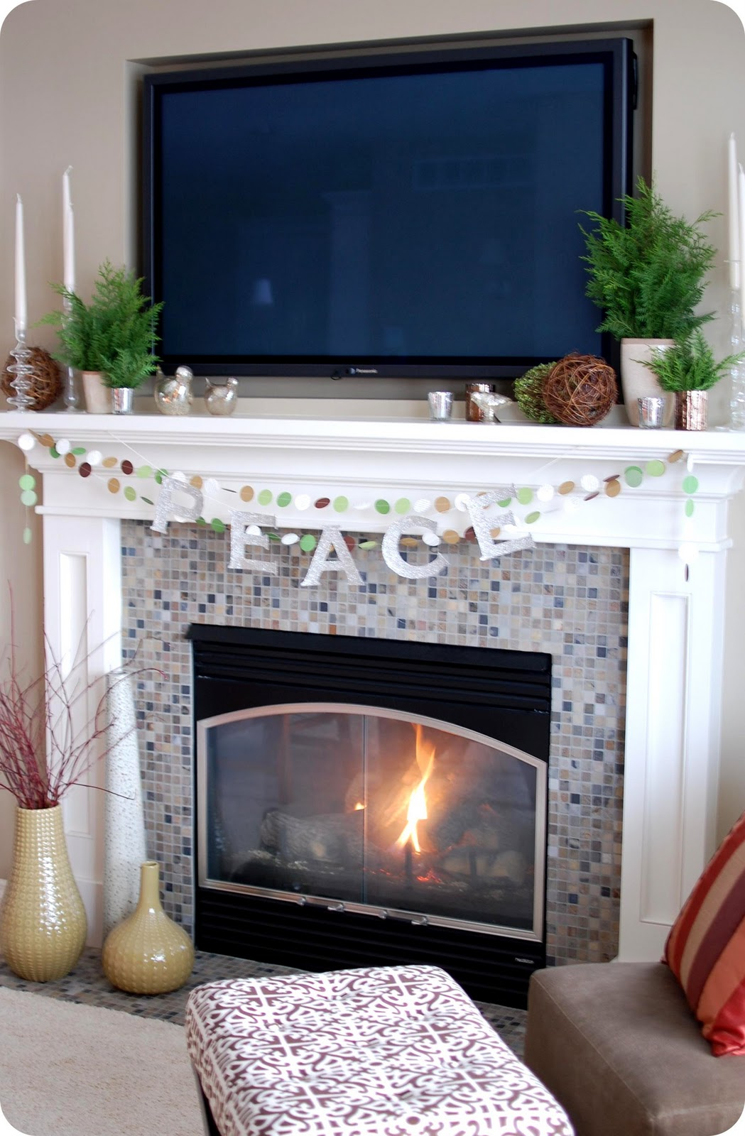 Tv Above Fireplace Decorating Ideas 33 Shades Of Green Decorating Around The Tv