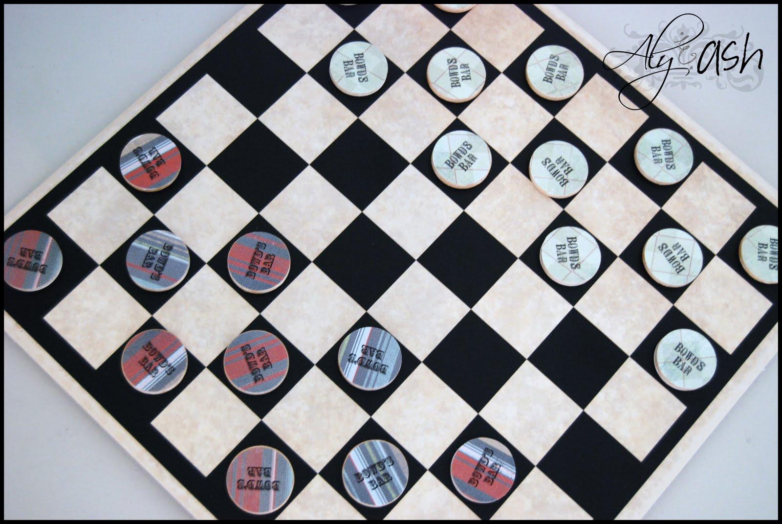 0880e47dbacd4 See It Again Saturday: Custom Tile/Vinyl Checker Board ~ Aly&Ash
