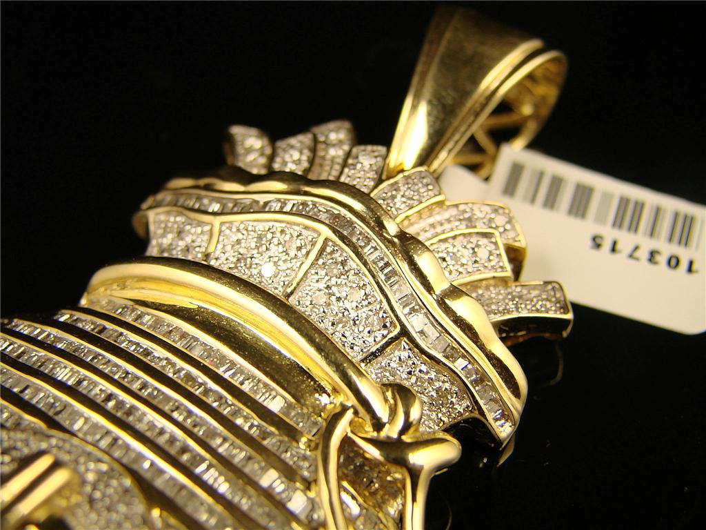 New York Jewels Mens Xl Money Bag Diamond Pendant Charm