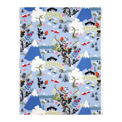 moutain print fabric
