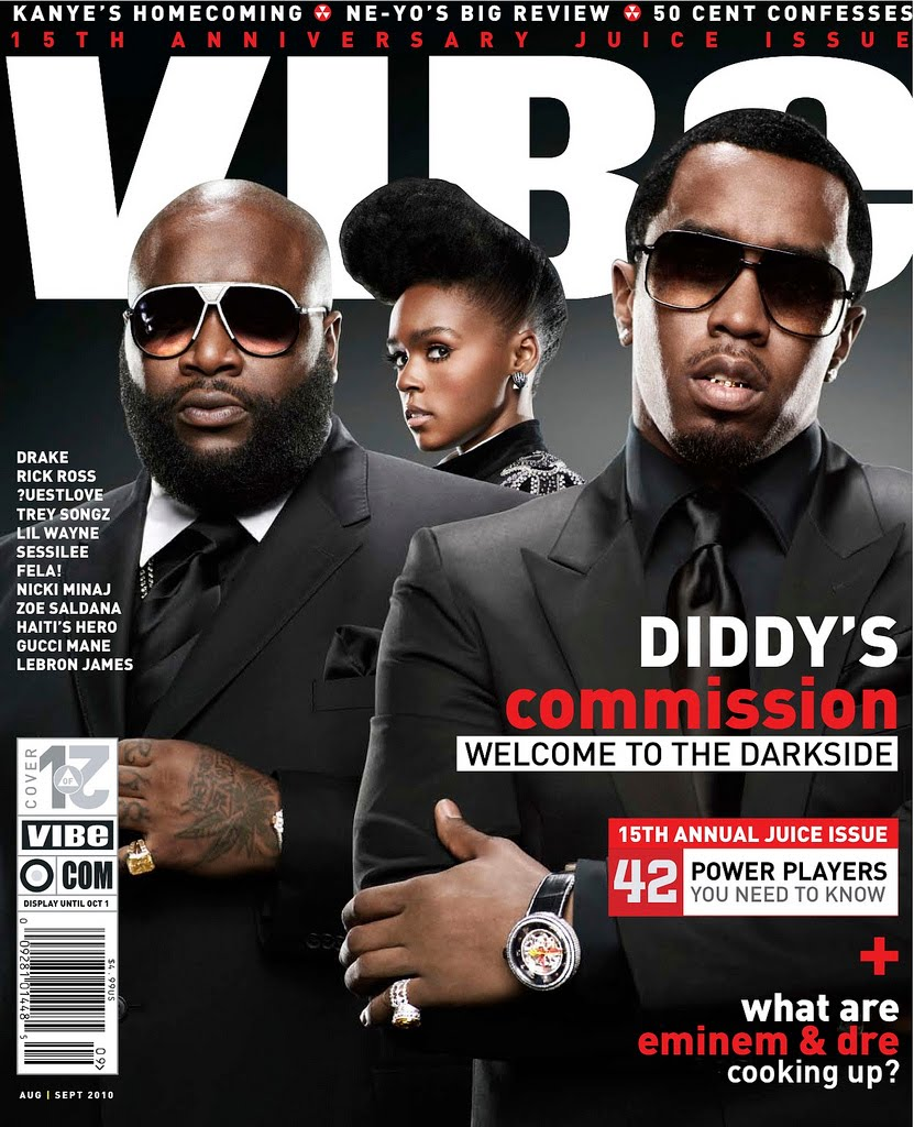 957469002d34 Diddy x Rick Ross x Bad Boy Roster 2010 Cover Aug/Sep Issue Of Vibe