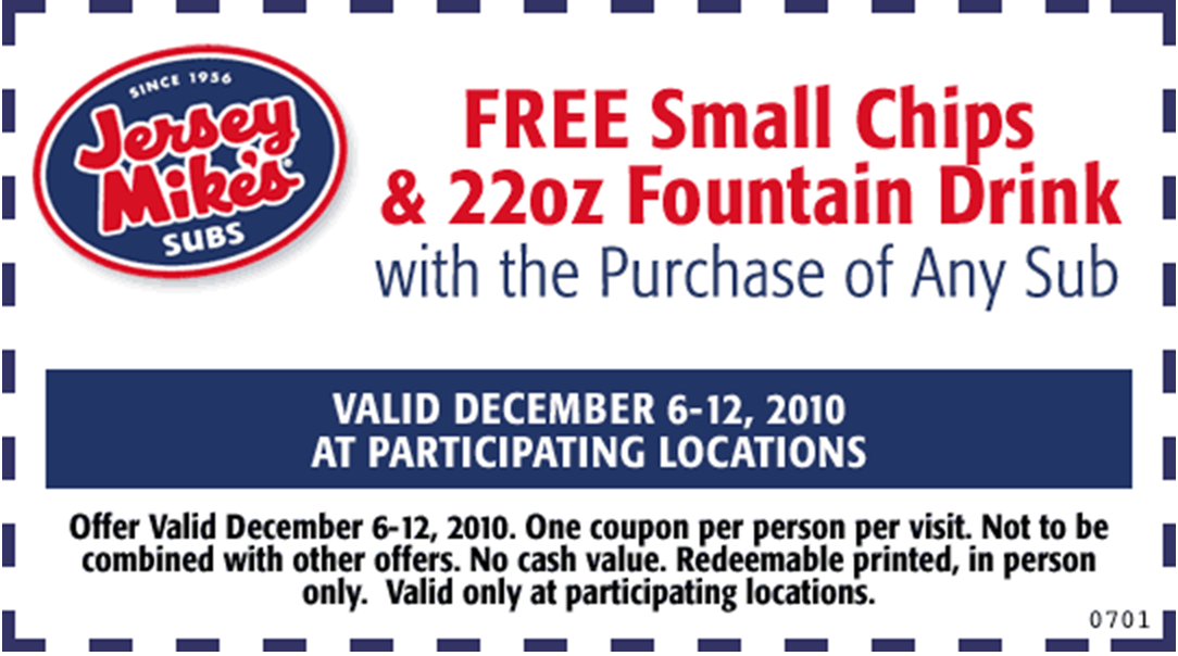 photograph about Jersey Mike's Printable Coupon named Mountain mikes printable discount coupons : Nw coupon databases