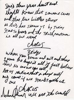 Miriam Slater Handwriting blog: Michael Jackson's